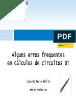 Alguns Erros Frequentes Em Cálculos de Circuitos BT-Voltimum