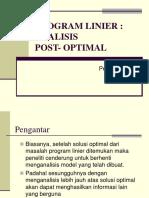 Analisis Post Optimal Sp