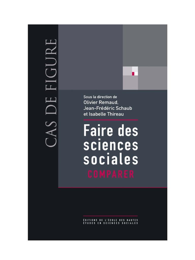 Faire des sciences sociales, comparer | Science | Sociologie