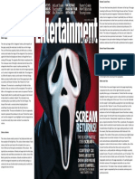 horror scream magazine cover analysis