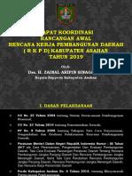 Ekspos Rapat Rancangan Awal RKPD Tahun 2019