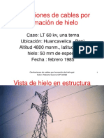 Oscilaciones de Cables Por Formación de Hielo
