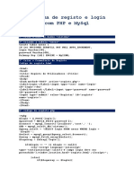 Sistema de Registo e Login Com PHP e MySql