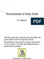 Homeostasis of Body Fluids