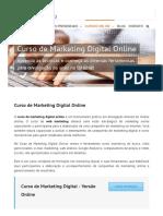 Curso de Marketing Digital Online - Ensino a Distância - EAD