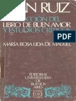 Juan Ruiz Seleccion Del Libro de Buen Amor y Estudios Criticos