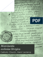 CABROL-Monvmenta Ecclesiae Litvrgica, Volume 5 1904