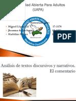 Análisis de Textos Discursivos y Narrativos