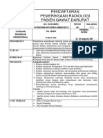 SPO  Pendaftaran Pemeriksaan Radiologi Pasien Gawat Darurat