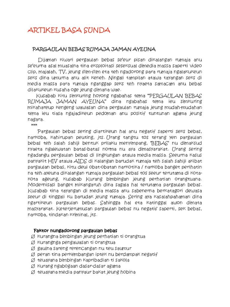 Artikel Basa Sunda