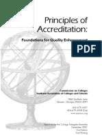Principles of Accreditation Sacs