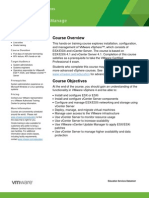 EDU DATASHEET vSphereInstallConfigureManage V4114