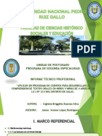 Universidad Nacional Pedro Ruiz Gallo  redaccion de cuentos