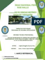 Universidad Nacional Pedro Ruiz Gallo  redaccion de cuentos