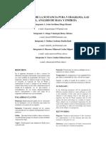 Propiedades de La Sustancia Pura y Diagrama, Gas Ideal, Análisis de Masa y Energía