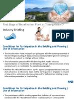 Prensentation Slides for Industry Briefing