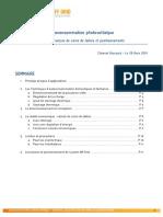 Autoconsommation Photovoltaïque Synthèse Coins de Tables Positionnements