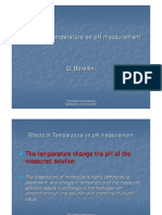 Effects of Temperature on pH Measurement by G. Borrelini