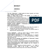 Topic 1 - The Foundations and Study of Politics