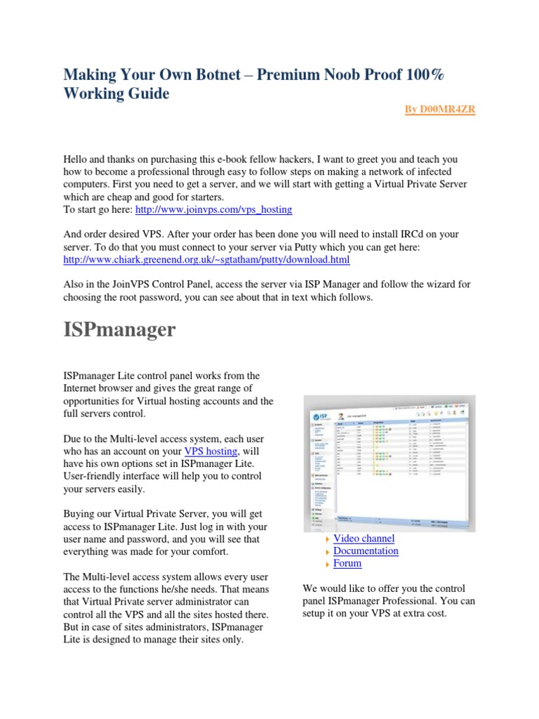 Building Your Very Own Botnet..pdf | Internet Relay Chat ...