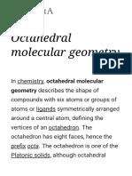 Octahedral Molecular Geometry