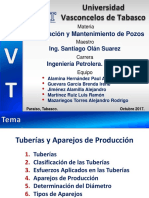 Tuberías y aparejos de produccion