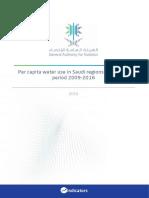 Per Capita Water Use in Saudi Regions During the Period 2009-2016 En