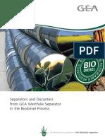 Biodiesel Process Separators Decanters 9997 1279 020