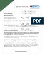 Credit Card Closure Form