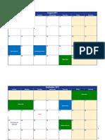 2017 -2018 Calendar