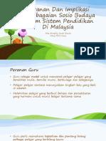 EDUP 3073 Topik 4 Peranan Dan Implikasi Kepelbagaian Sosiobudaya Dalam Sistem Pendidikan Di Malaysia