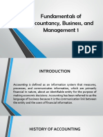 Fundamentals of Accountancy, Business, And Management