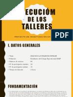 Sustentacion de La Formulación y Plan Accion; Ejecusion