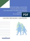 Protocolo de Detección, Orientaciones y Estrategias Para Trabajar Con Alumnado Con TDH (Profesorado)