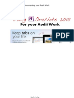 Onenote for Audit