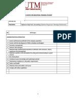 Skop Kerja Latihan Industri (Diploma Pengurusan Teknologi (Perakaunan))