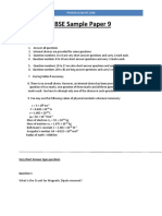 CBSE Sample Paper -9