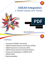 ASEAN Integration in Relation to Global Issues and Trends 2015