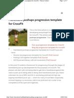 Handstand Pushups Progression Crossf