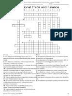 International Trade and Finance CrosswordInternational Trade and Finance Crossword - WordMint Questıons