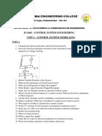 EC6405-Control Systems Engineering