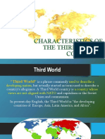Characteristics of the 3rd World Countries