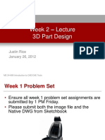 Week 2 - 3D Part Design - Lecture Presentation