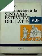 Lisardo Rubio Introduccion a La Sintaxis Estructural Del Latin