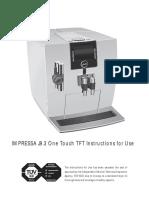 Manual Jura Impressa j9 Tft