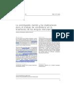 La Enciclopedia Mental y Las Implicaciones Para El Trabajo de Vocabulario en La Enseñanza de Lenguas Extranjeras