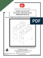 9.3 14679-0 1600-1800 Chicken Broaster Manual