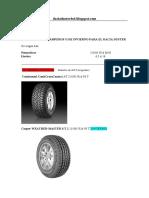 Duster 4x4 tyres neumaticos all terrain a/t daciaduster4x4.blogspot.com