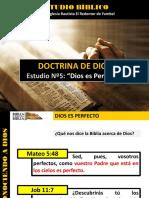 Discipulado Nº 5 Dios Es Perfecto