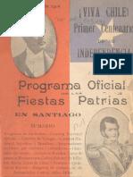 Programa oficial celebraciones Centenario (1910)